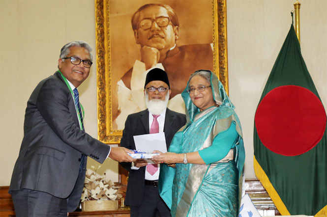 Bank Asia Ltd. donated a cheque of Tk. 1 (One) Crore in favor of Prime Minister's Relief Fund