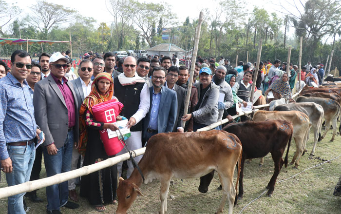 Bank Asia donates cattle to cyclone Bulbul affected southern regions of Bangladesh