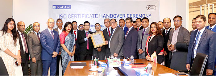 Bank Asia has achieved ISO 27001:2013 Certificate